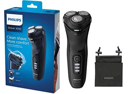 Philips Series 3000 Elektrischer Trocken- & Nassrasierer S3233/52, mit PowerCut-Klingen und...