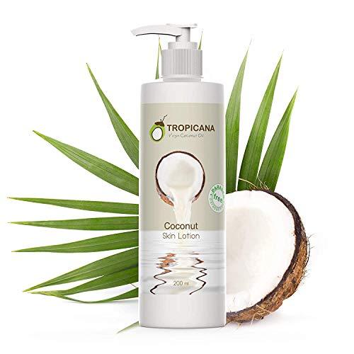 Tropicana Oil Vitaminreiche Bio feuchtigkeitsspendende Kokosöl-Körperlotion - strahlend...
