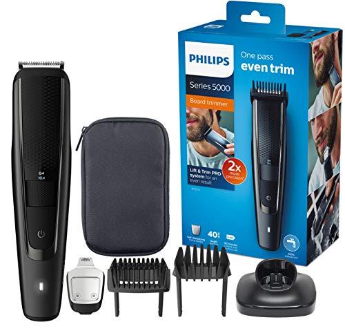 Philips Barttrimmer BT5515/15, 40 verschiedene Looks (0,4 - 20 mm), Präzisionstrimmer, Ladestand,...