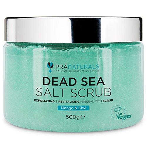 PraNaturals Erfrischendes Körperpeeling Body Scrub aus dem Toten Meer 500g 100% Bio nahrhaftes...