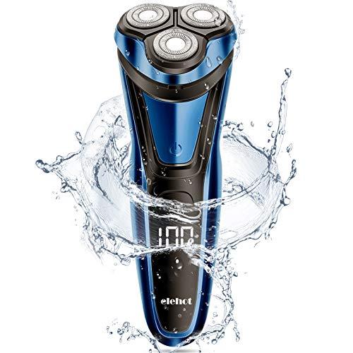 Rasierer Herren Elektrisch Rasierapparat mit LCD Display Trockenrasierer oder rasieren mit Schaum...
