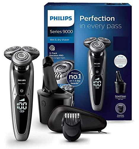 Philips S9711/31 Elektrischer Nass-und Trockenrasierer Series 9000 mit V-Track-Pro-Klingen,...